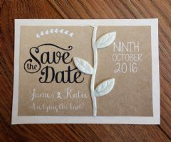 Save the Date inc brown envelopes